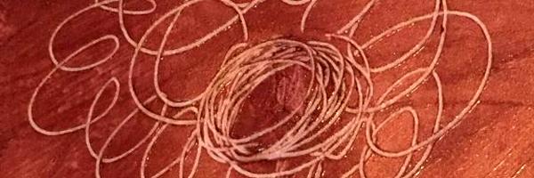 Lip Stick Scratch Flower - Healing Art for Caregivers